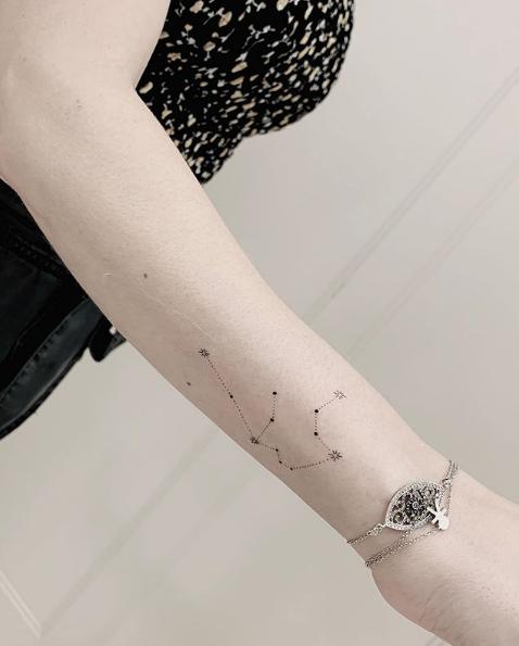 Sandy fez uma tatuagem no braço (Foto:Reprodução)