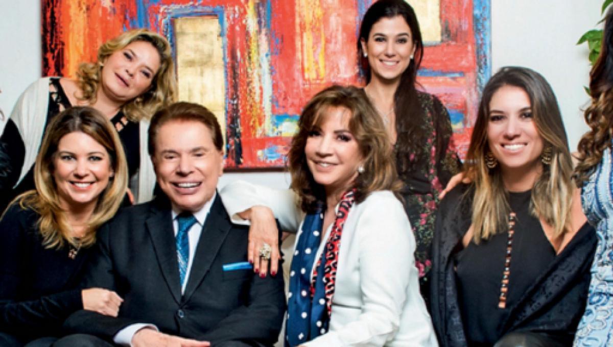 Silvio Santos e família (Foto: Reprodução)