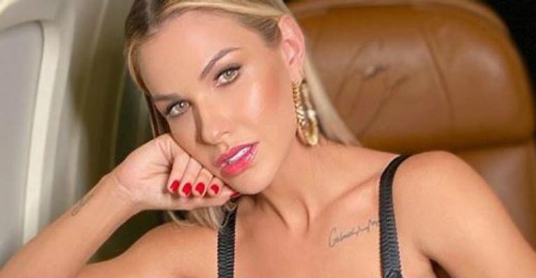 A mulher do famoso cantor sertanejo, Gusttavo Lima, Andressa Suia deixou os seus seguidores de queixo caído ao mostrar sua nova tatuagem (Foto: Reproduçãp/Instagram)