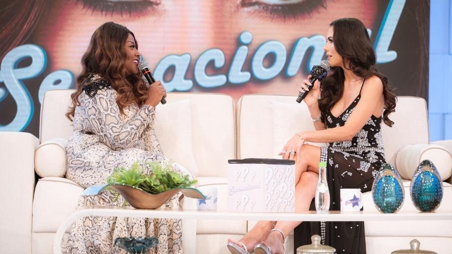 Vanessa Jackson e Daniela Albuquerque no Sensacional. Foto: Divulgação/RedeTV!