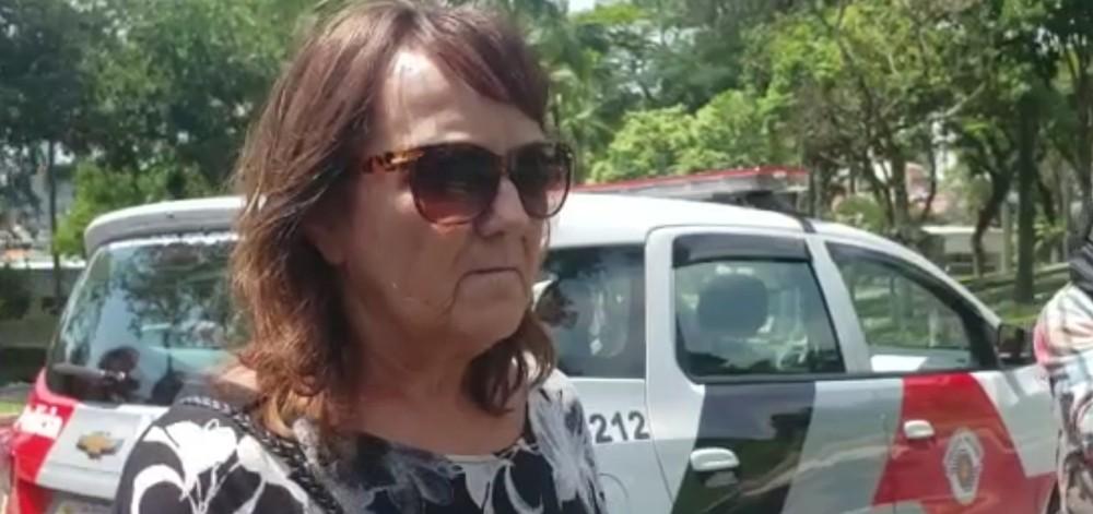 A empresária Maria Tereza Pereira, prima de Gugu Liberato, que foi furtada no enterro do apresentado