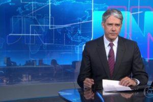 O famoso apresentador do Jornal Nacional da Globo, William Bonner se envolveu em diversas polêmicas ao longo do ano (Foto: Reprodução)