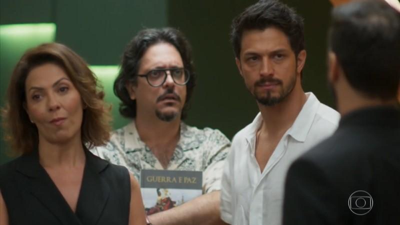 Nana (Fabiula Nascimento) e Marcos (Romulo Estrela) em cena da novela das sete da Globo (Foto: Reprodução/Globo)