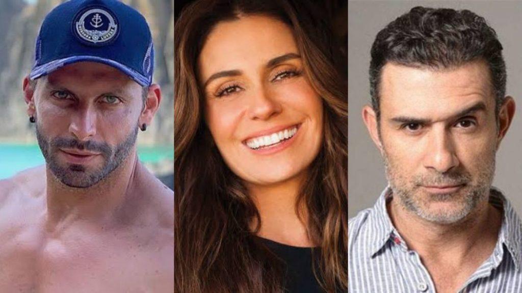 Henri Castelli, Giovanna Antonelli e Marcos Pasquim estão cobrando para gravar vídeos pros fãs (Foto: Montagem/TV Foco)