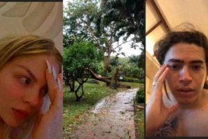 Luisa Sonza e Whindersson Nunes presenciaram ciclone durante viagem de fim de ano (Foto: Montagem)