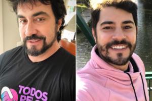Evaristo Costa e Fábio de Melo se zoam e fãs se divertem (Foto: Reprodução)