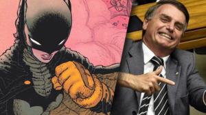 HQ de Batman faz uma sátira ao presidente brasileiro Jair Bolsonaro (Foto: Reprodução)