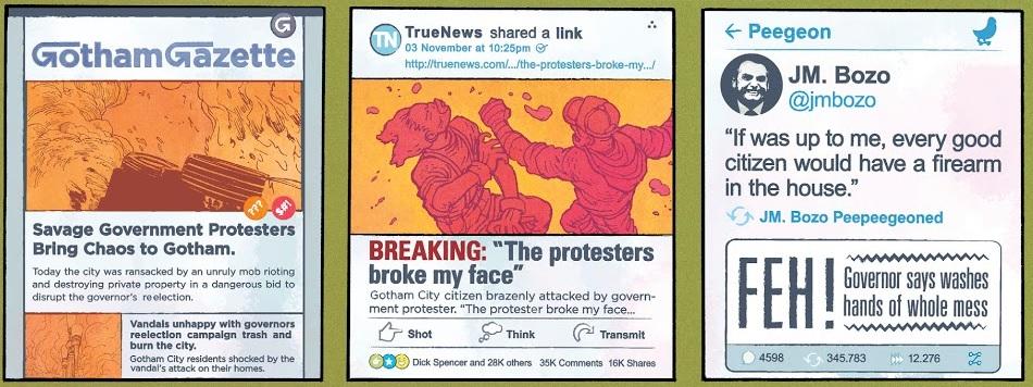 Trecho da história em quadrinhos que traz uma sátira a Jair Bolsonaro (Foto: Reprodução)