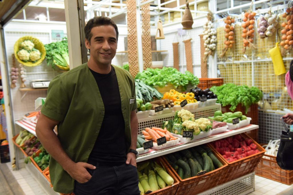 Rafael Sardão caracterizado como Miguel de Amor Sem Igual
