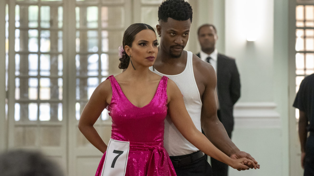 Francisca (Gabriela Moreyra) e Ramon (David Junior) na competição de Bom Sucesso
