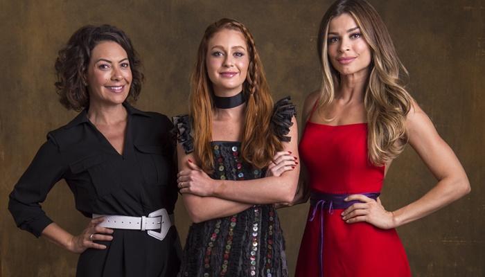 Marina Ruy Barbosa (Eliza) com Fabiula Nascimento (Nana) e Grazi Massafera (Paloma) em Bom Sucesso (Foto: Globo/Estevam Avellar)