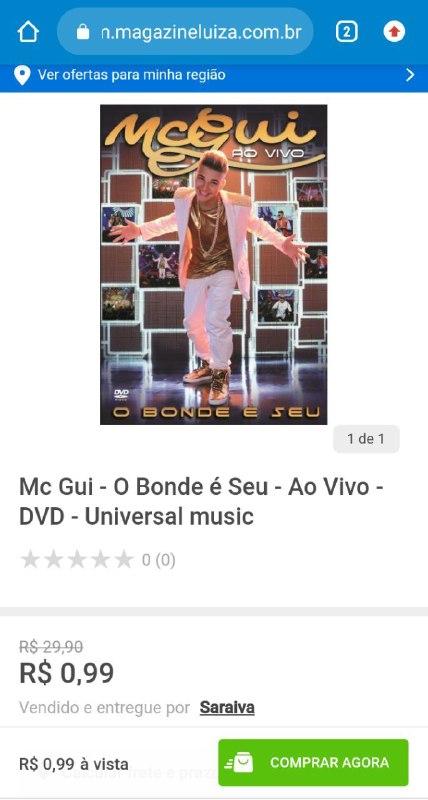 Comprariam o DVD de MC Gui?