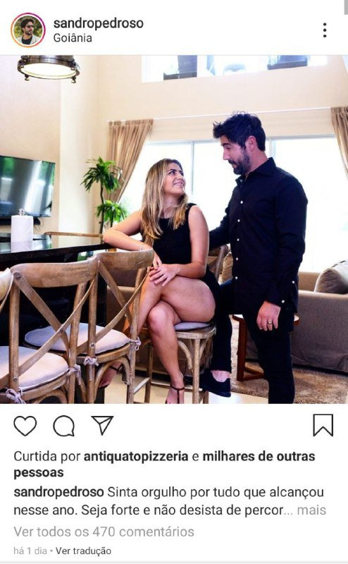 Sandro Pedrosos resolveu falar de seu sentimento por Jéssica Costa, filha de Leonardo (Foto: Reprodução/ Instagram)