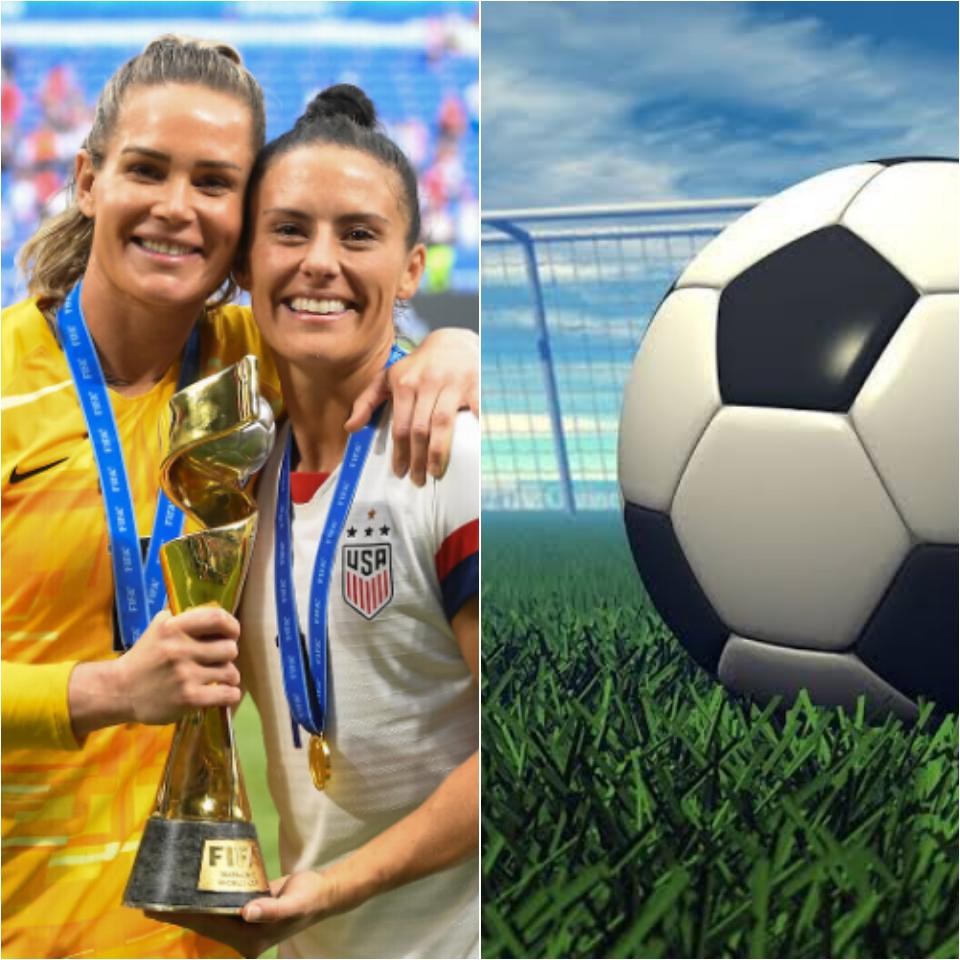Jogadoras da seleção de futebol feminino se casam e mostram felicidade pela união (Foto: Reprodução)