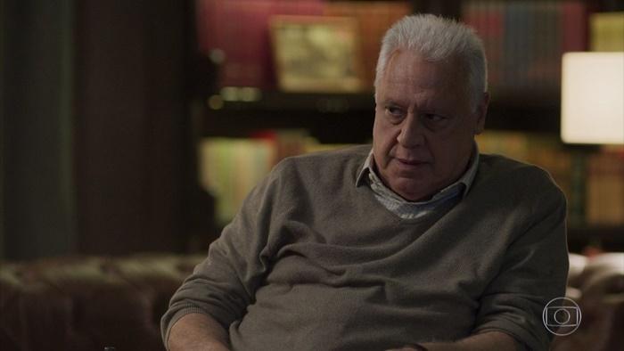 Alberto (Antonio Fagundes) terá embate com Diogo em vingança (Foto: Reprodução/Globo)