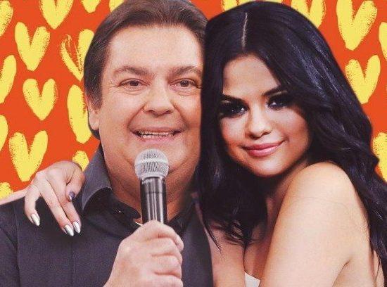 Faustão e Selena Gomez se tornam famoso casal na web (Foto: Reprodução)