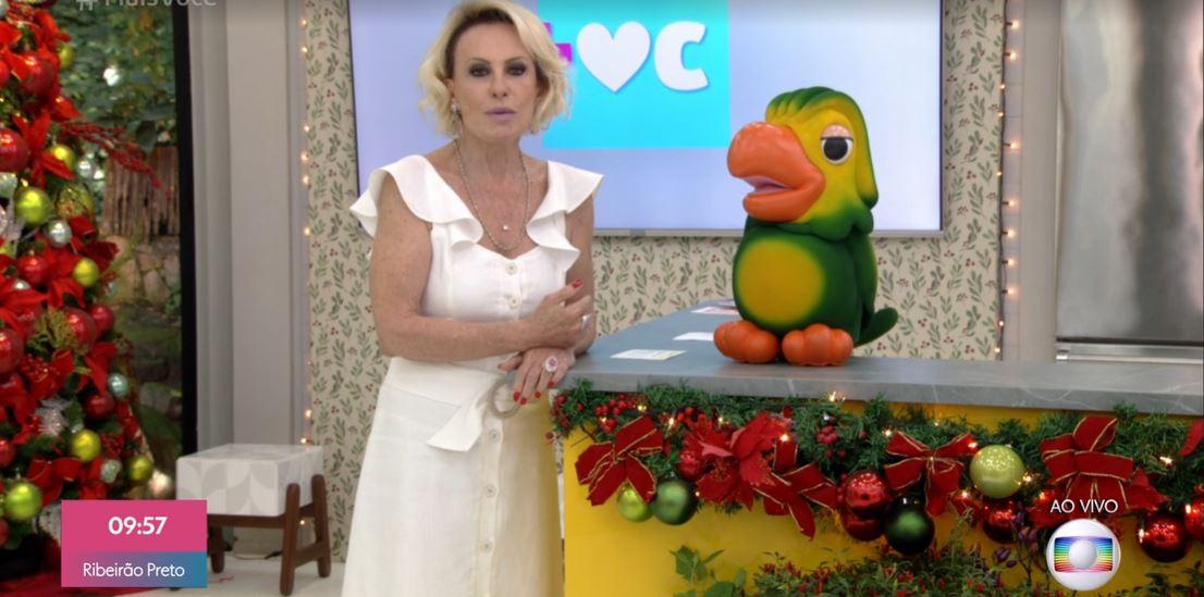 A famosa apresentadora do Mais Você, da Globo, Ana Maria Braga e Louro José (Foto: reprodução/Instagram)