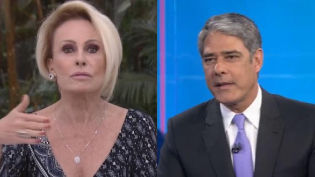 Ana Maria Braga e William Bonner (Foto: Reprodução/Globoplay/Montagem TV Foco)