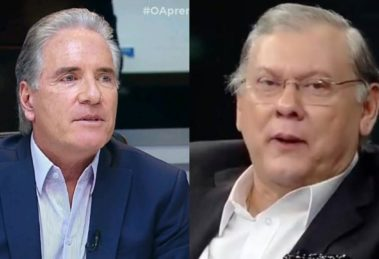 Roberto Justus e Milton Neves (Foto: Reprodução/Band/Record/Montagem TV Foco)