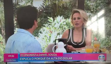 Ana Maria Braga fala sobre economia no Mais Você após William Bonner fazer comentário desastroso. Foto: Reprodução