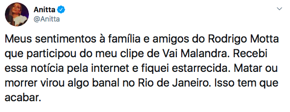 Anitta, Rodrigo Motta