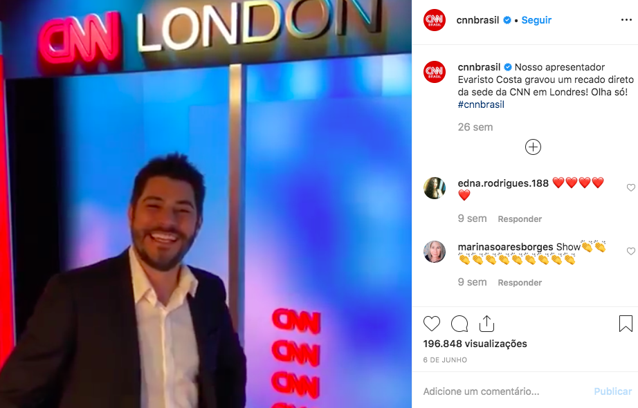Evaristo Costa, CNN Brasil