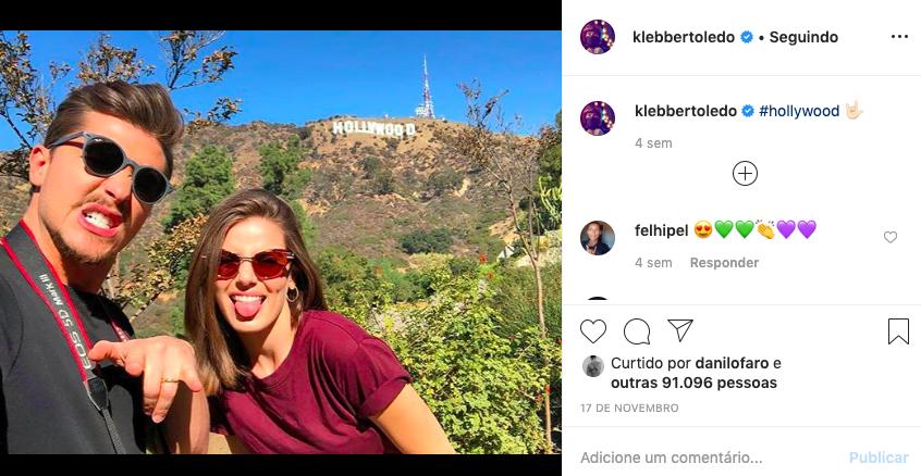 Klebber Toledo e Camila Queiroz. Foto: Reprodução