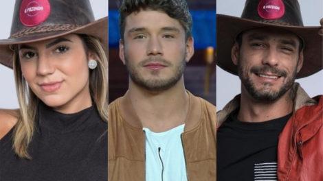 Hariany Almeida, Lucas Viana e Diego Grossi estão na final de A Fazenda 11 da Record (Foto: Montagem/TV Foco)