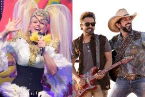 Xuxa evita Fernando e Sorocaba em especial da Record (Foto: Montagem/TV Foco)