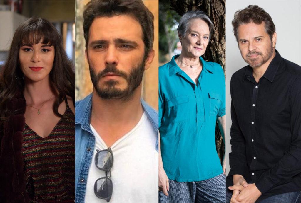 Dani Moreno, Thiago Rodrigues, Selma Egrei e Juan Alba estão no elenco de Amor Sem Igual da Record (Foto: Montagem/TV Foco)