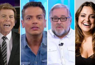 Fofoqueiros; Leo Dias, Leão Lobo, Fabíola Reipert e Nelson Rubens
