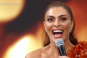 Juliana Paes comemorou ao ganhar prêmio de melhor atriz (Foto: Reprodução)