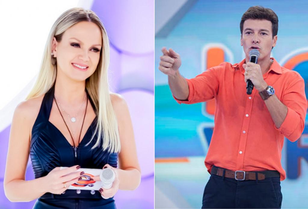 record Eliana atropelou Rodrigo Faro em audiência neste domingo (Foto: Montagem)