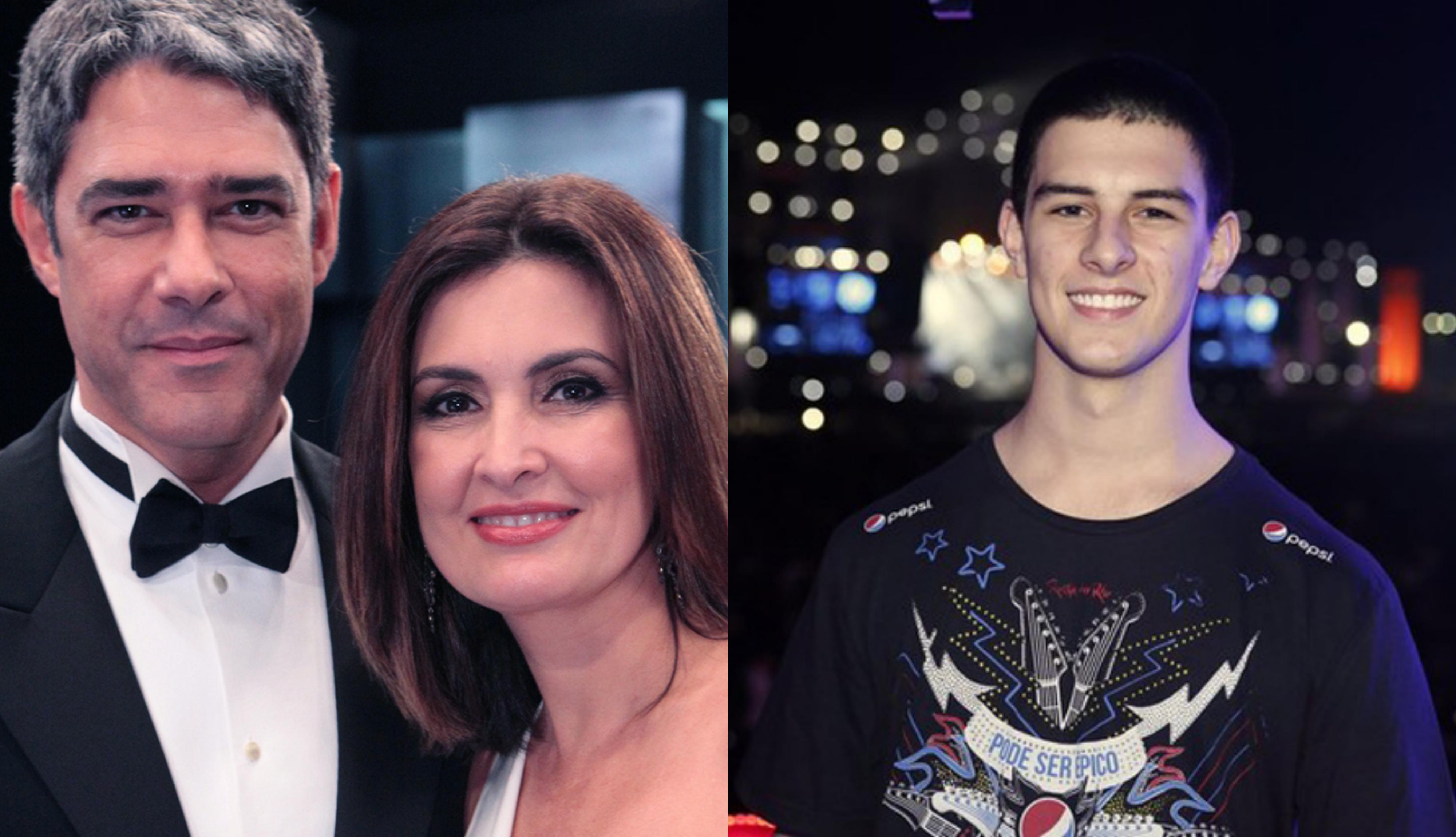 O filho do famoso jornalista da Globo, William Bonner e da apresentadora, Fátima Bernardes, Vinícius Bonemer compartilha foto com namorada (Foto: Montagem TV Foco)