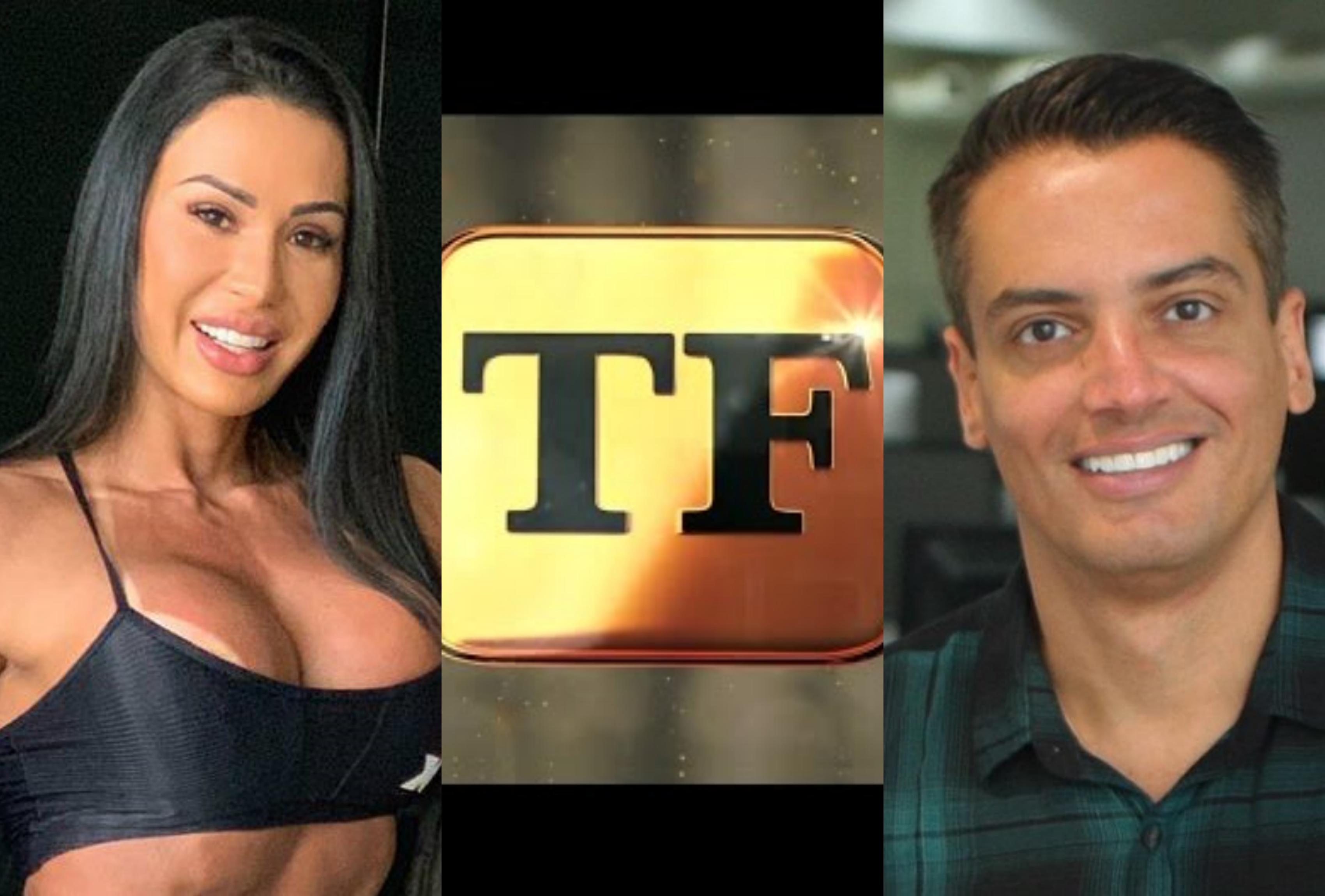 A famosa digital influencer e mulher do cantor Belo, Gracyanne Barbosa é indicada por Leo Dias para se tornar a nova apresentadora do TV Fama, da RedeTV! (Foto: Montagem TV Foco)