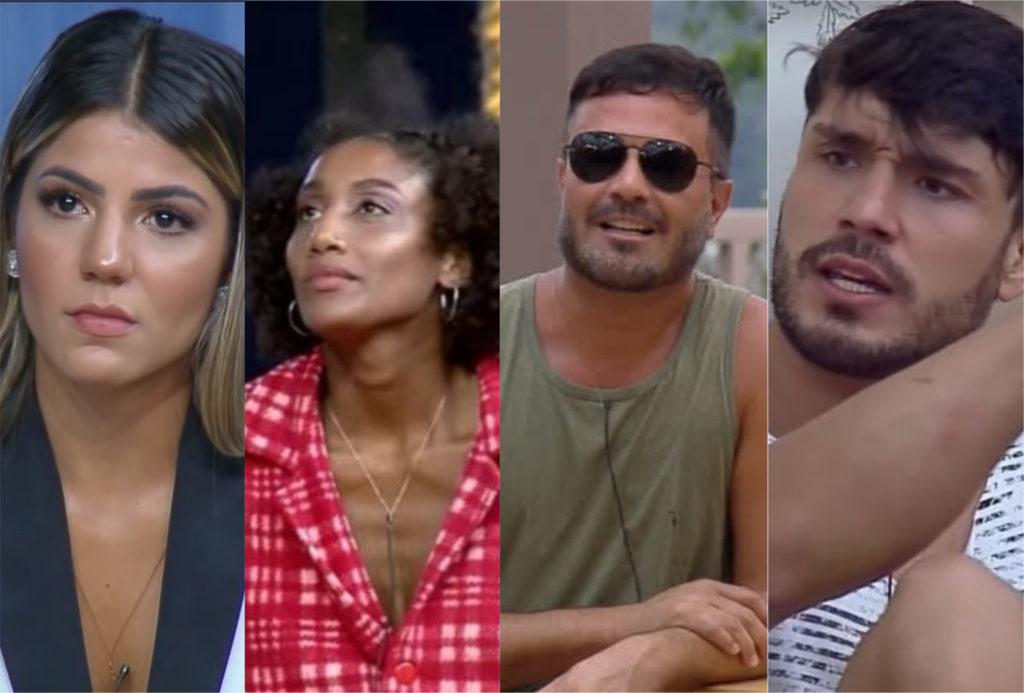 Hariany Almeida, Sabrina de Paiva, Rodrigo Phavanello e Lucas Viana precisam do voto público para ir para a final de A Fazenda 11 da Record (Foto: Montagem/TV Foco)