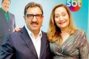 A apresentadora do programa A Tarde é Sua da RedeTV!, Sonia Abrão, recebeu um presente muito especial do amigo Ratinho e deixou seus seguidores curiosos (Foto reprodução)