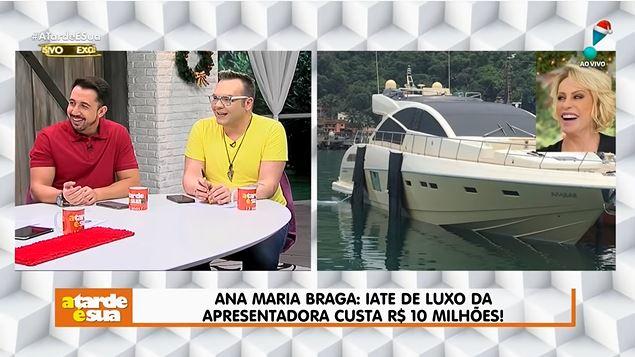 Iate de Ana Maria Braga (Foto: Reprodução/YouTube)
