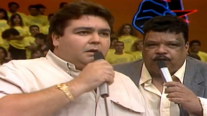Tim Maia no Domingão do Faustão, da Globo, em 1989. (Foto: Reprodução)