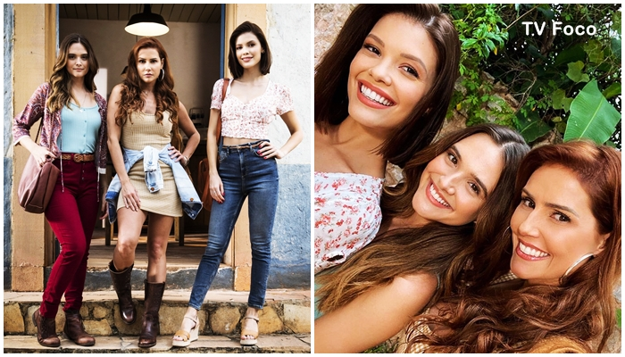 Vitória Strada, Juliana Paiva e Deborah Secco com seu novo visual em Salve-se Quem Puder