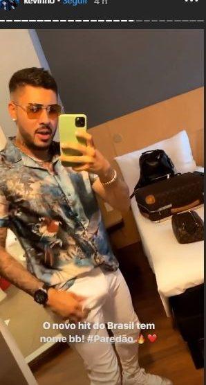 O famoso cantor Kevinho exibe volume impressionante em seu Instagram (Foto: Reprodução)