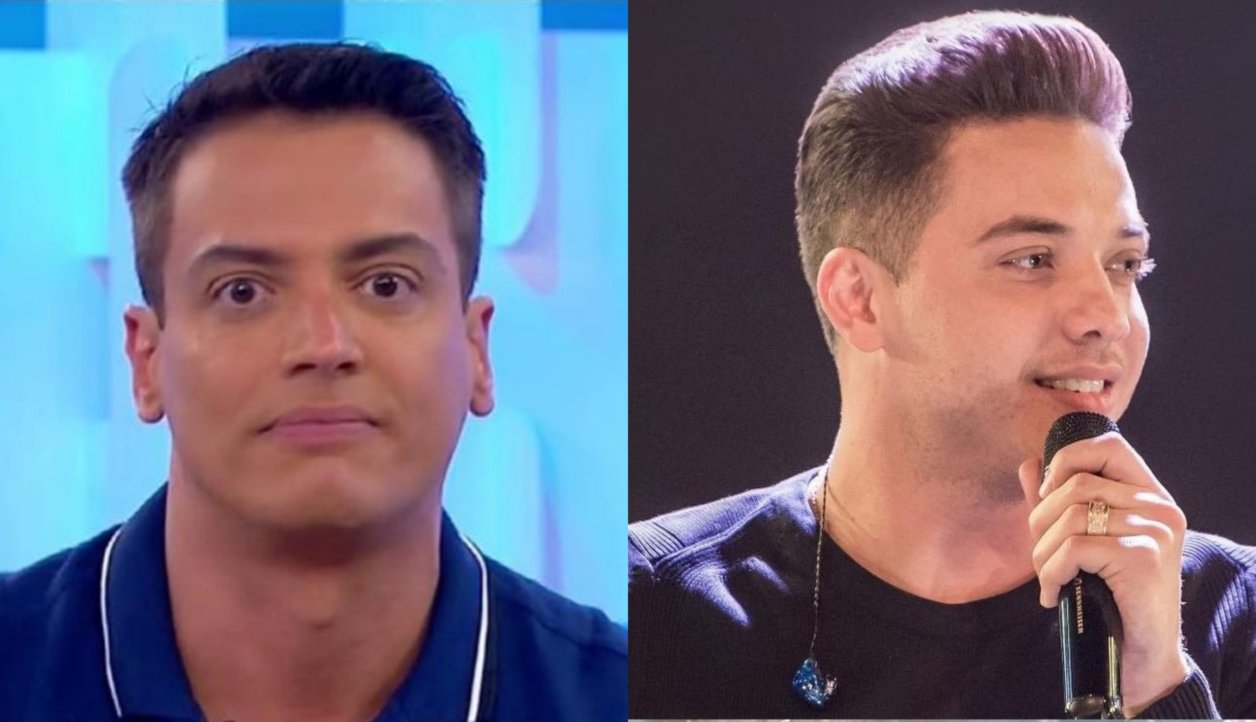 Após fazer críticas contra a mãe do famoso cantor sertanejo, Wesley Safadão, Leo Dias do SBT acaba xingando músico (Foto: Montagem TV Foco)