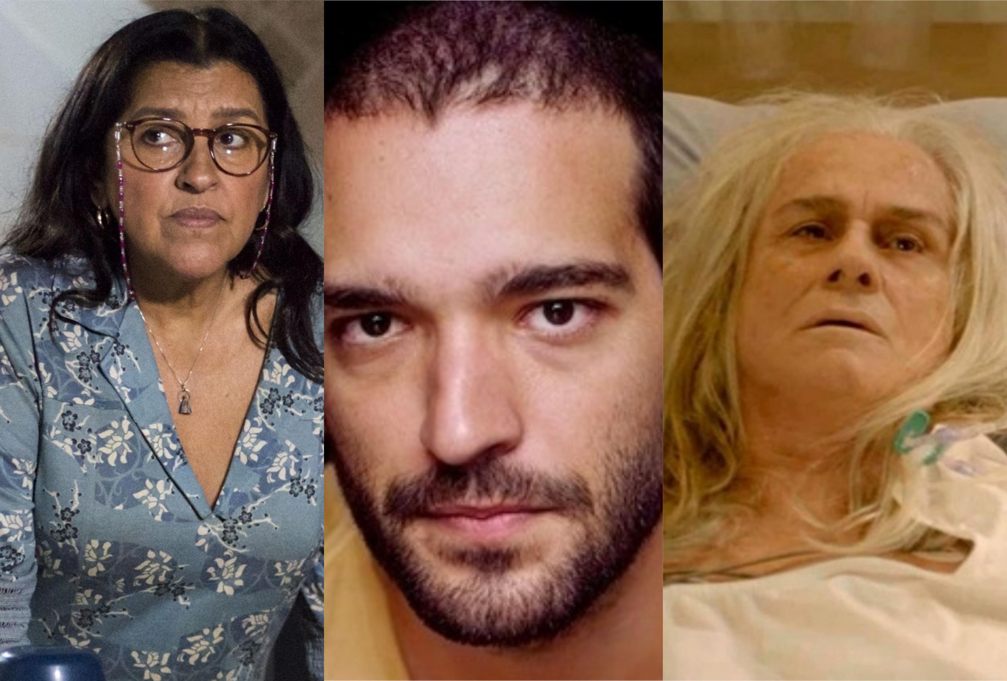 Lurdes (Regina Casé) vai ser salva por Sandro (Humberto Carrão) e Kátia (Vera Holtz) morre em Amor de Mãe da Globo (Foto: Montagem/TV Foco)
