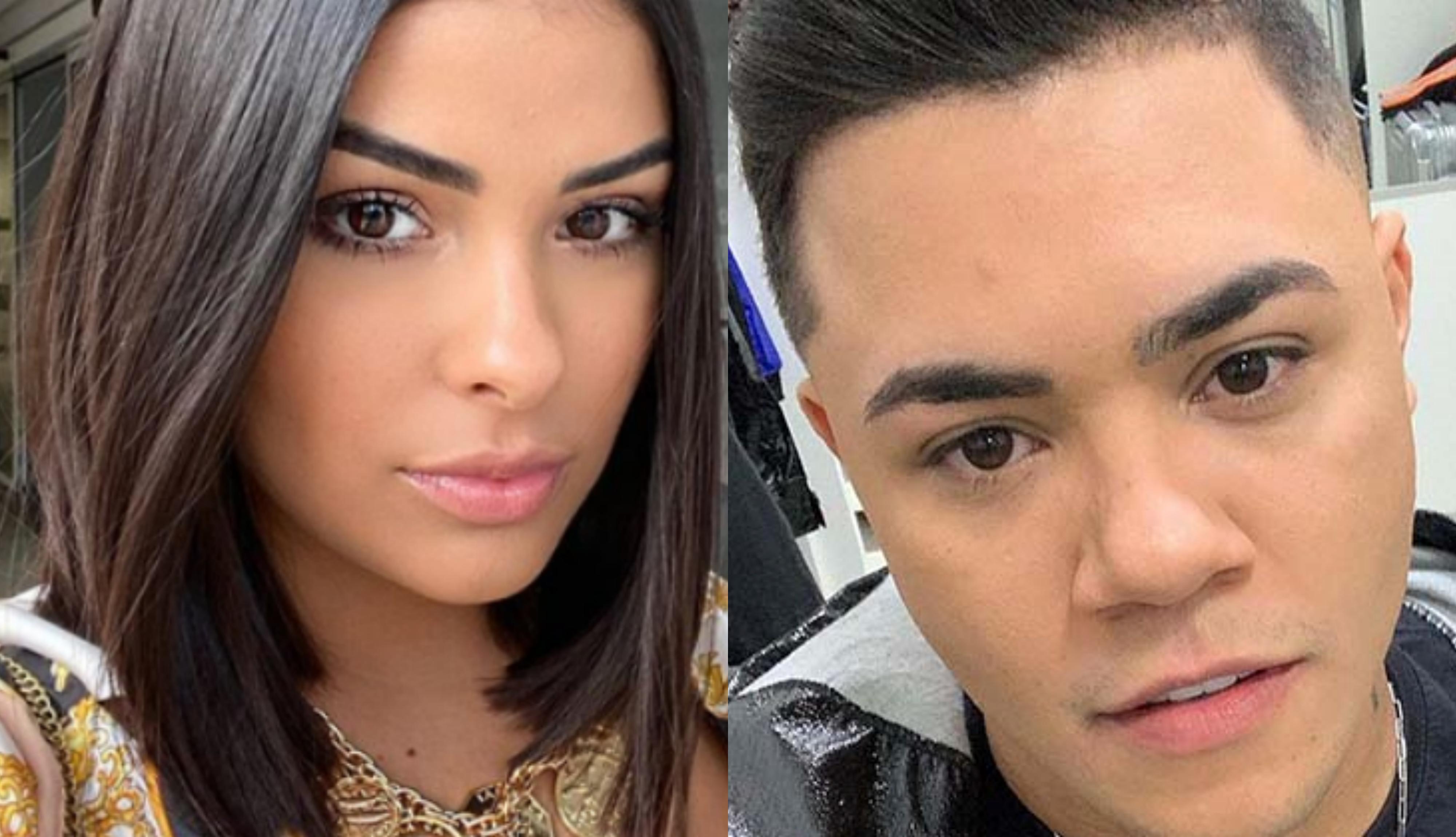 A famosa campeã do BBB 16, reality show da Globo, Munik Nunes foi flagrada em clima de romance com o cantor sertanejo Felipe Araújo (foto: Montagem TV Foco)