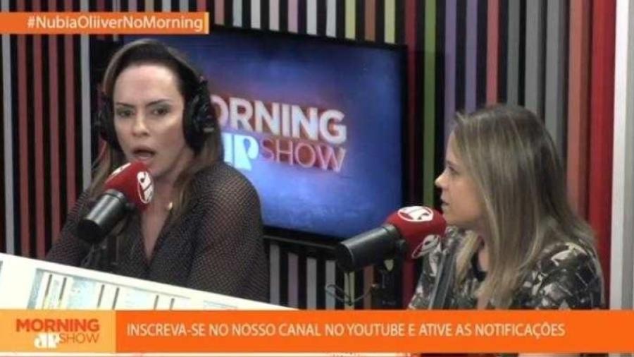 Núbia Oliiver no Morning Show (Foto: Reprodução)