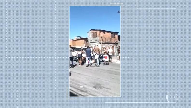Policiais militares trocaram tiros em favela de São Paulo (Foto: Reprodução/Globo)