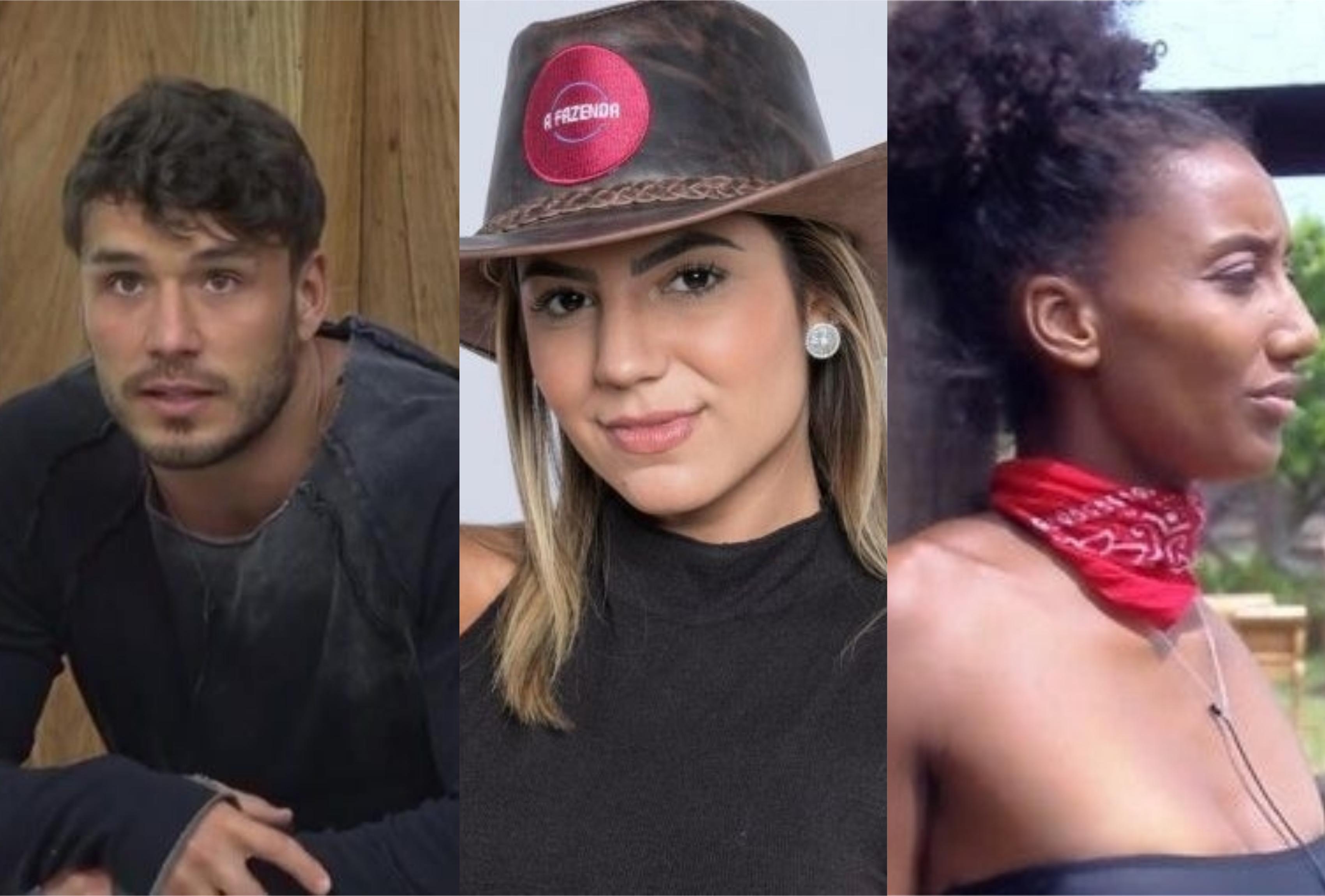 Quem você quer que fique em A Fazenda da Record? Lucas Viana, Hariany Almeida ou Sabrina de Paiva? (Foto: Montagem/TV Foco)