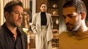 Raul (Murilo Benício) e Vitória (Taís Araújo) são os pais de Sandro (Humberto Carrão) em Amor de Mãe da Globo (Foto: Montagem/TV Foco)