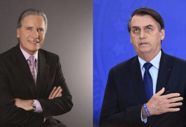 Roberto Justus e Jair Bolsonaro (Foto: Divulgação/Evaristo Sa/AFP)