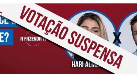 Roça entre Hariany Almeida e Lucas é suspensa em A Fazenda 11 (Foto: Reprodução/Record TV)